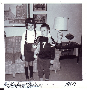 Maureen & Ben--A sister that helped with her little brother               1967