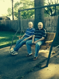 Ben & his dad (Jay) in the swing at home.