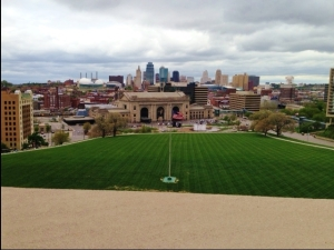 Downtown KC & Union Station as seen from the Liberty Memorial.